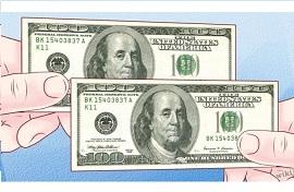 проверяем доллары